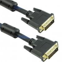 Кабел DeTech DVI-DVI, 3m, 24+1,С ферит.